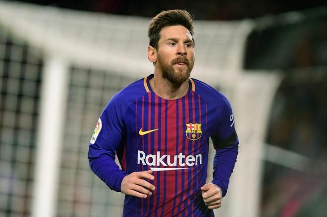 Messi, durante un partido reciente del Barça.