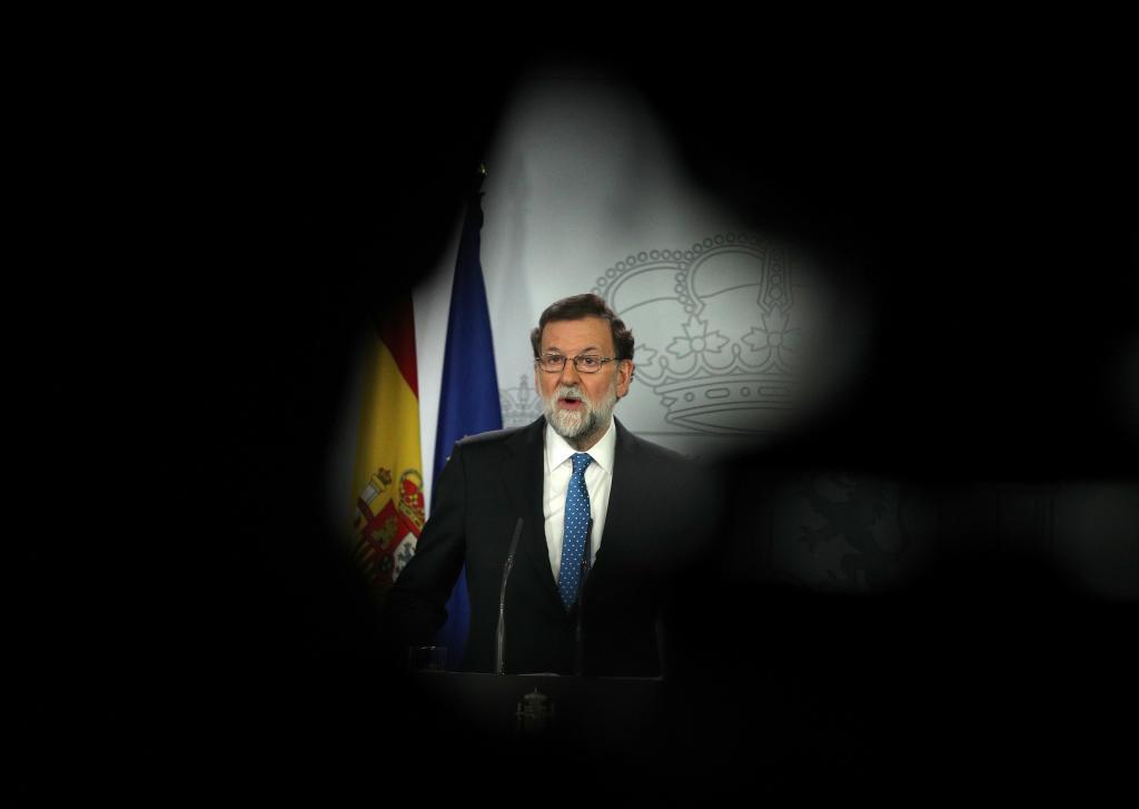 El presidente del Gobierno y del PP, en una rueda de prensa celebrada...