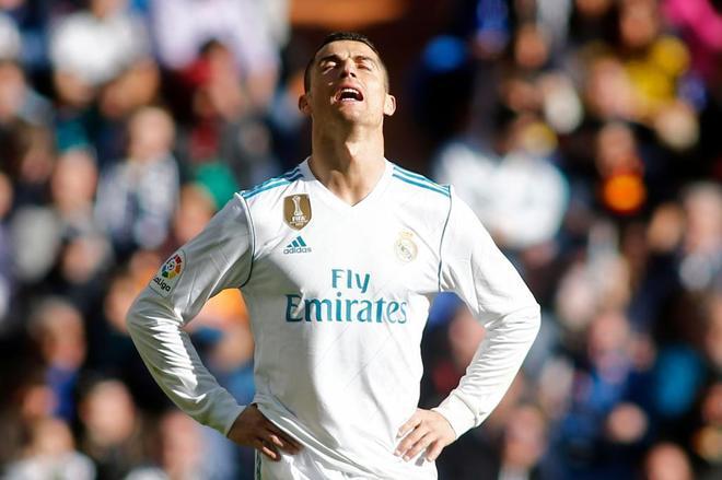Cristiano Ronaldo, durante el clásico, el pasado sábado.