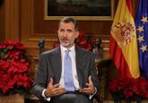 El Rey Felipe VI durante el discurso de Nochebuena