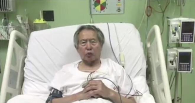 Captura de pantalla del vídeo publicado ayer en Facebook por Alberto Fujimori.