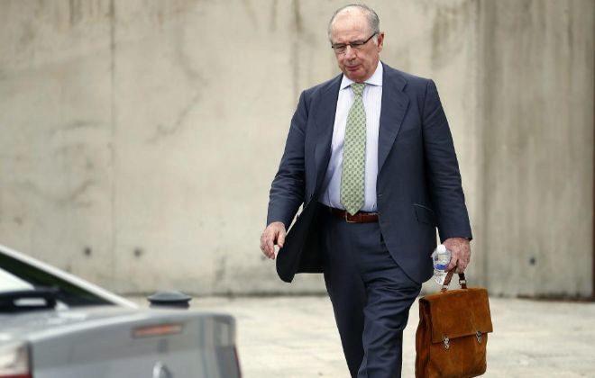 Rodrigo Rato, a su salida de la Audiencia Nacional tras testificar el pasado verano.