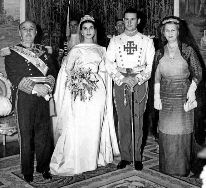 Carmen, el día de su boda con Cristóbal Martínez-Bordiú.