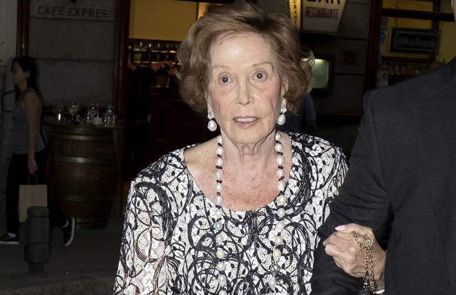 En su última aparición pública, Carmen Franco, el pasado mes de...