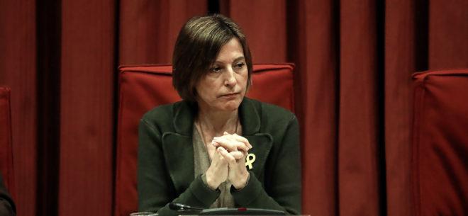 La ex presidenta de la Mesa del Parlament, Carme Forcadell