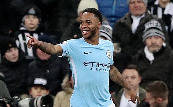 Raheem Sterling celebra su gol ante el Newcastle.