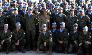 Cospedal defiende en el Líbano el papel de las Fuerzas Armadas contra el terrorismo