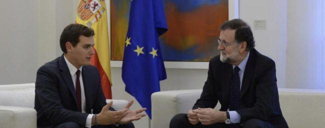 Albert Rivera y Mariano Rajoy, juntos en Moncloa el pasado octubre.