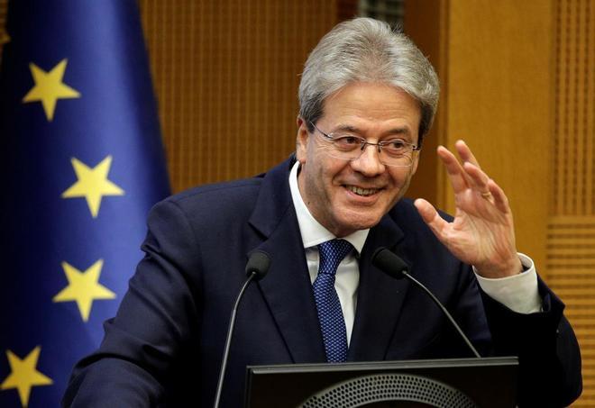 El primer ministro italiano, Paolo Gentiloni, en la rueda de prensa de fin de año.
