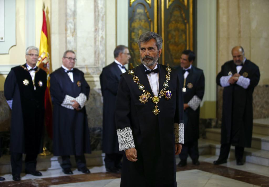 El presidente del Consejo General del Poder Judicial y del Supremo,...