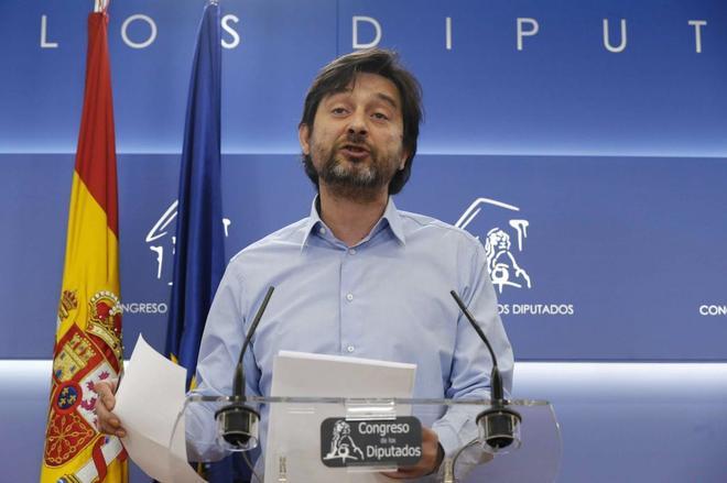 Rafael Mayoral, esta mañana en el Congreso de los Diputados.