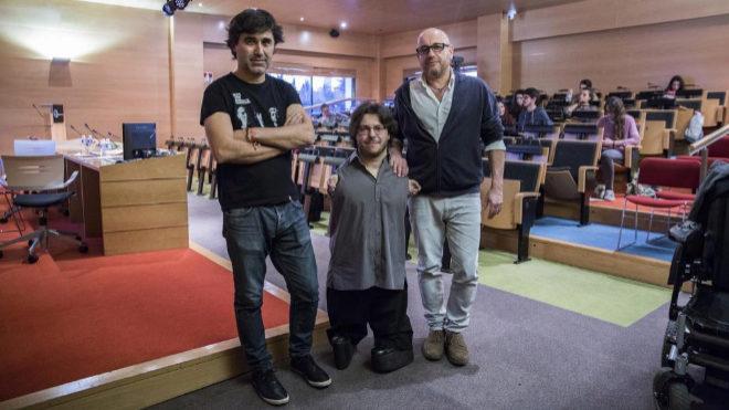 De izquierda a derecha: Pedro Simón, Raúl Gay y Plàcid García Planas, en el curso.
