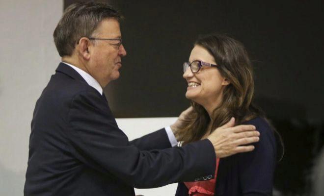 El presidente Ximo Puig y la vicepresidenta Mónica Oltra.