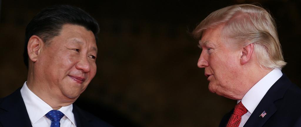 Xi Jinping junto al presidente de EEUU, Donald Trump, en Mar-a-Lago, Heroida.