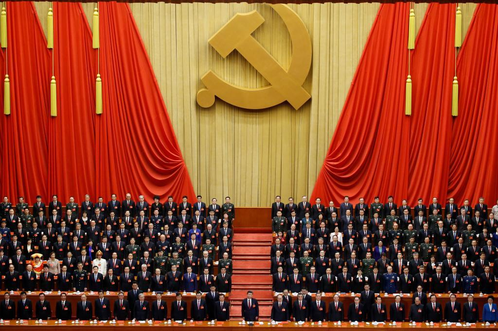 Xi Jinping preside la ceremonia de clausura del 19 Congreso del PCC, el pasado octubre en Pekín.