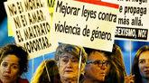 Concentración en Madrid contra la violencia machista.
