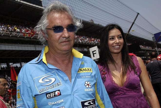 Flavio Briatore y Elisabetta Gregoraci, en un premio de Fórmula Uno.