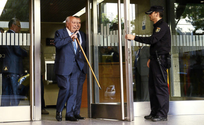 El extesorero del PP, Álvaro Lapuerta, tras declarar en la Audiencia Nacional