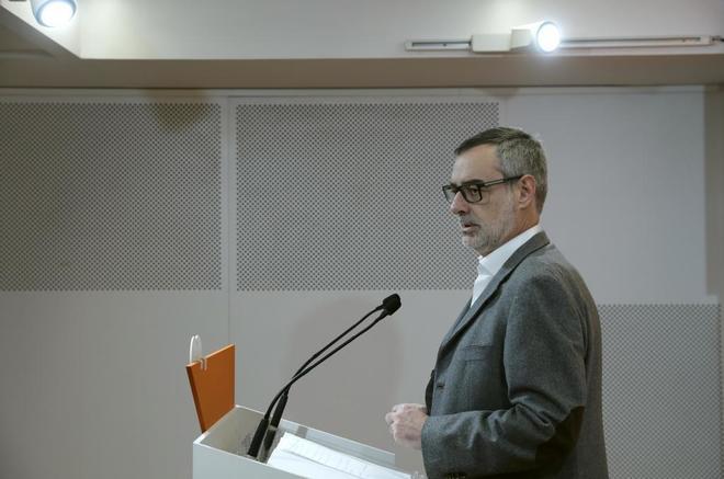 José Manuel Villegas, en rueda de prensa el pasado diciembre.