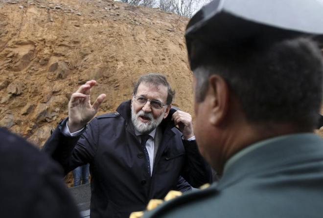 Mariano Rajoy, en la inauguración del tramo Santiago Norte-Santiago...