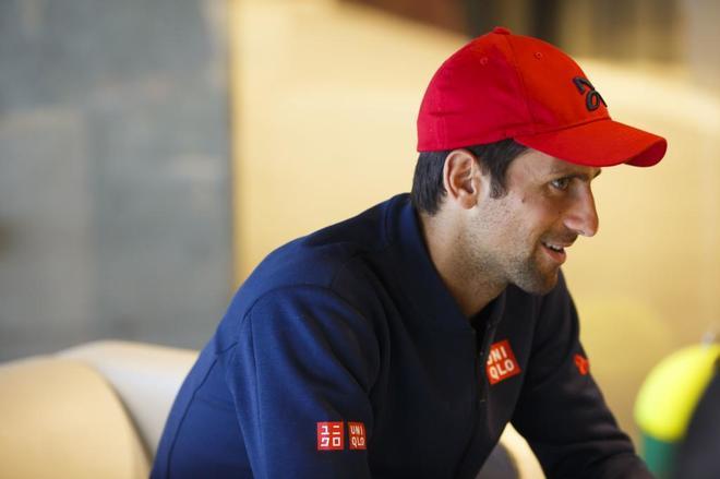 Djokovic durante una entrevista en La Caja Mágica.