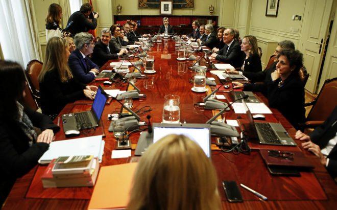Reunión del Pleno del Consejo General del Poder Judicial con Carlos...
