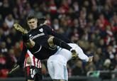 Kepa, en un lance del juego en el partido entre Athletic y Real Madrid...