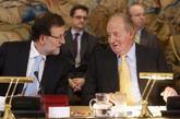 Mariano Rajoy y el Rey Juan Carlos, en un acto del patronato de la...