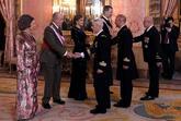 Doña Sofía, Don Juan Carlos, Doña Letizia y Don Felipe reciben a...