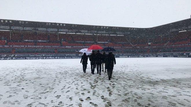 Estado de El Sadar, estadio de Osasuna, esta mañana.