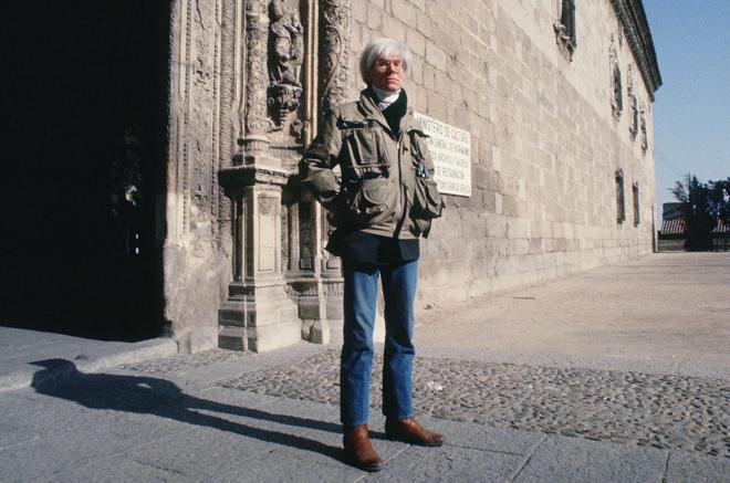 Andy Warhol, durante su visita a Toledo en 1983. TERESA NIETO