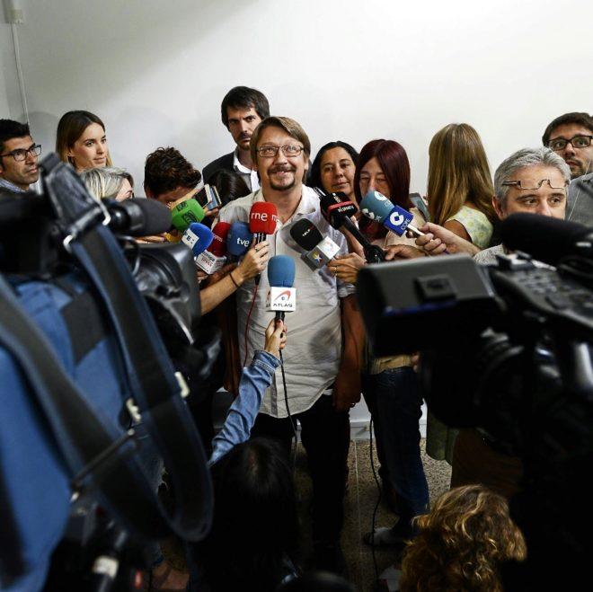 El líder de Catalunya en Comú Podem, Xavier Domènech
