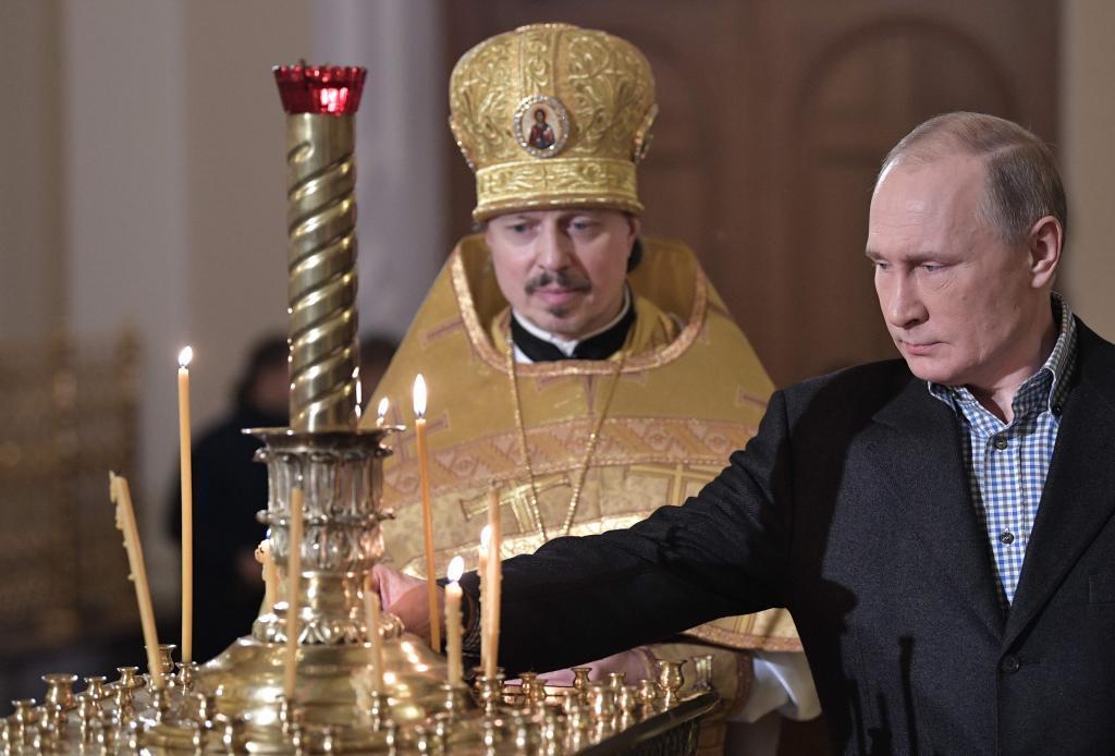 El presidente ruso, Vladimir Putin, eligió ayer la iglesia donde fue...