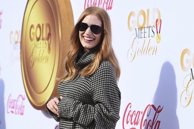 Jessica Chastain, nominada a Mejor Actriz de Drama por 'Molly's Game' en una fiesta previa a la ceremonia de los Globos de Oro