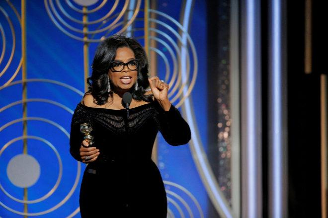 el emotivo discurso de Oprah Winfrey en los Globos de Oro 2018