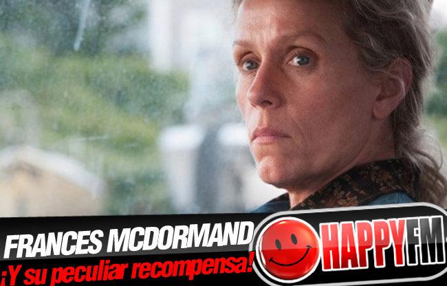 Esto es lo que Frances McDormand quiere darle a las otras nominadas tras ganar el Globo de Oro a Mejor Actriz