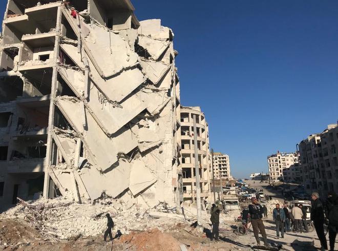 Daños producidos por la guerra y los bombardeos en el área noroeste de Idlib (Siria), controlada por los rebeldes.