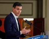 Pedro Sánchez, en el acto celebrado esta mañana en Madrid.