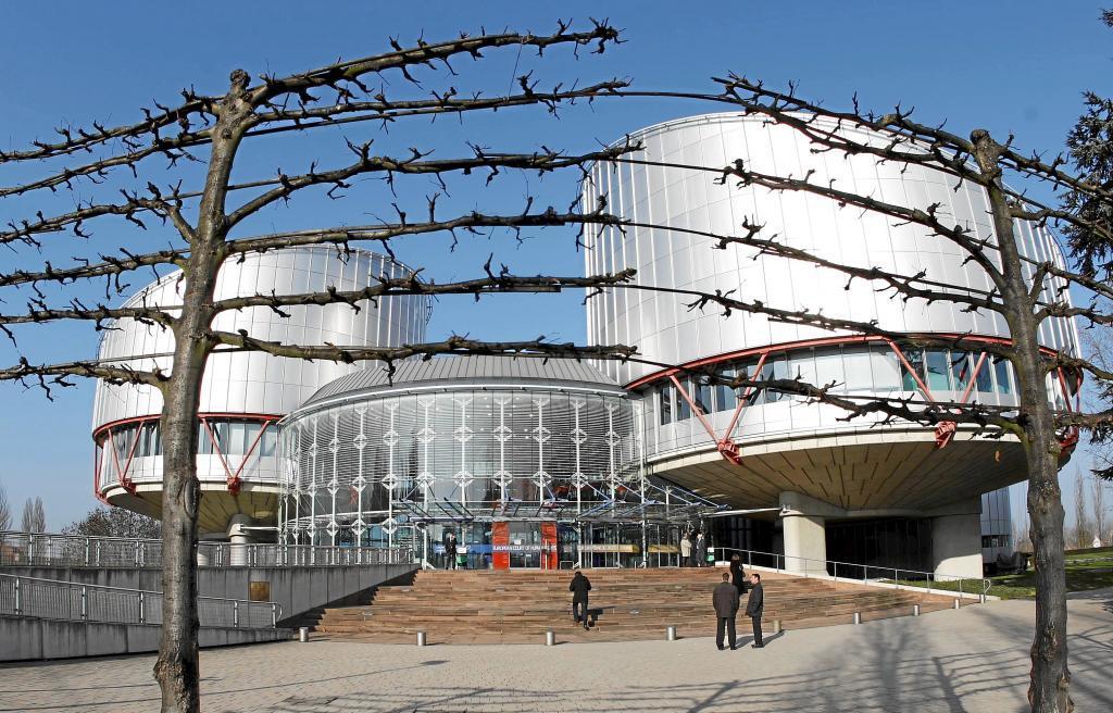 El edificio que acoge el Tribunal Europeo de Derechos Humanos en...