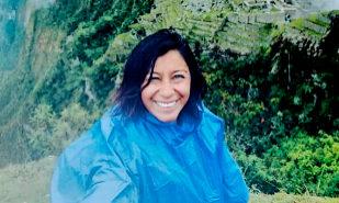 Nathaly Salazar, durante su visita al Machu Picchu