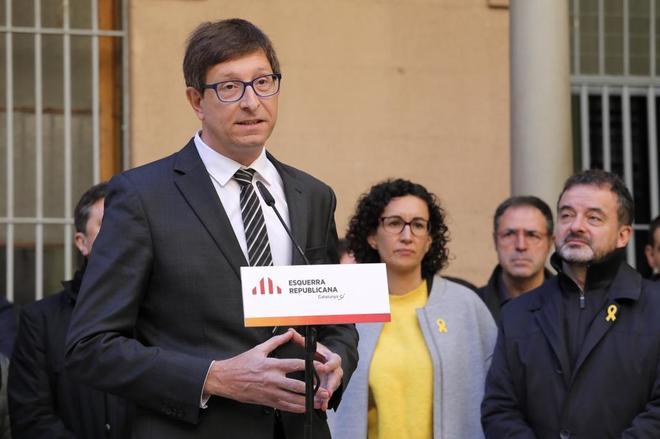 Carles Mundó durante un acto de campaña de ERC el pasado diciembre