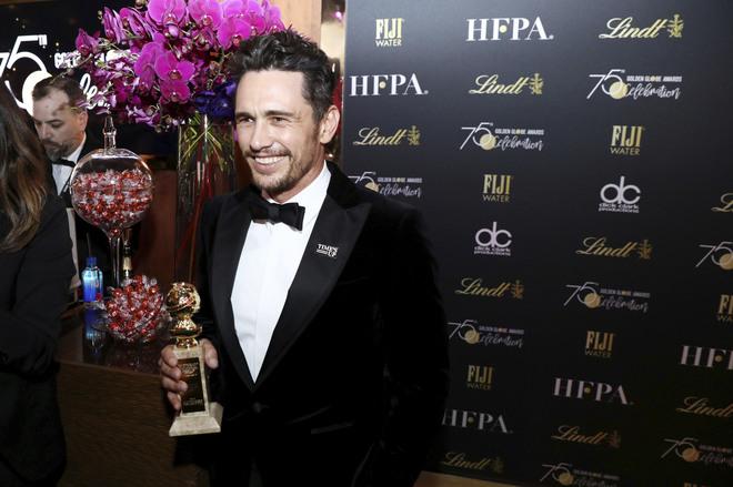 James Franco, tras ganar el Globo de Oro.