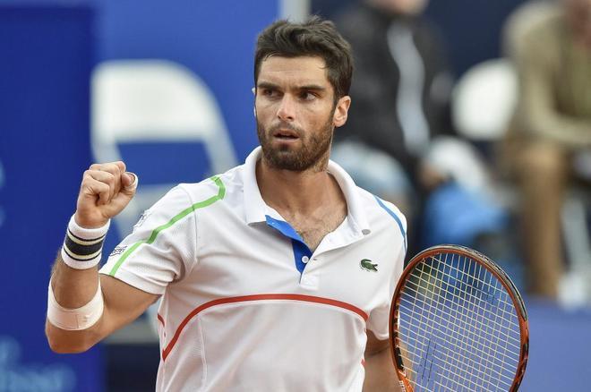 Pablo Andújar en el ATP de Ginebra 2014, tras derrotar a Fernando...