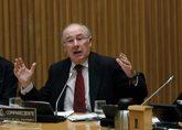 El ex presidente de Bankia Rodrigo Rato, durante su comparecencia en...