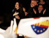 Inés Arrimadas celebra su victoria en la noche electoral del 21-D