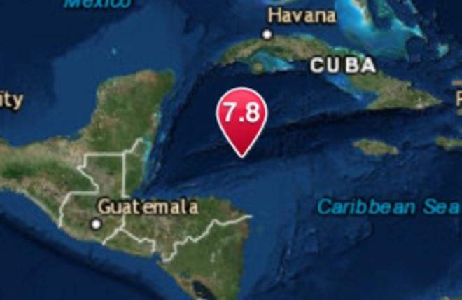 Alerta de tsunami en el Mar Caribe tras un potente terremoto de magnitud 7.8