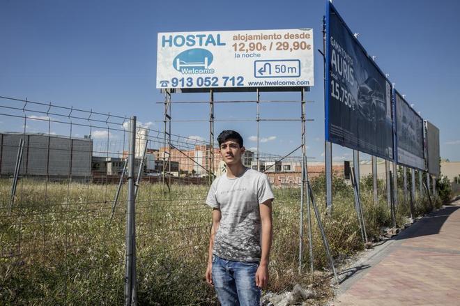 El Hostal Wellcome, en el barrio de Vallecas, en Madrid,  donde el...