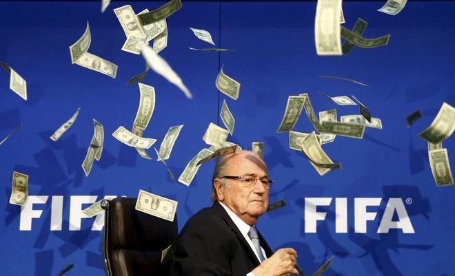 Joseph Blatter, durante una rueda de prensa.