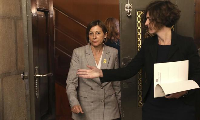 La presidenta del Parlament, Carme Forcadell, en la cámara catalana el pasado diciembre