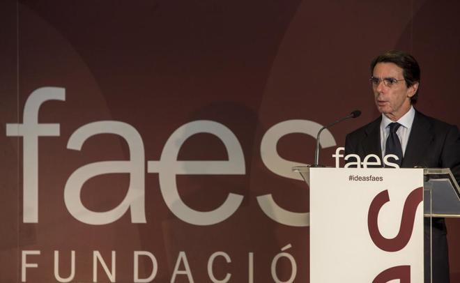 El presidente de FAES, José María Aznar, en una imagen de octubre de...